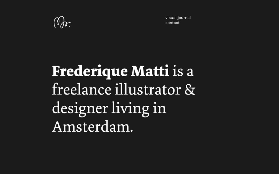 An example of a dark freelance portfolio website.