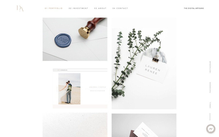 Elegant and delicate portfolio website example.