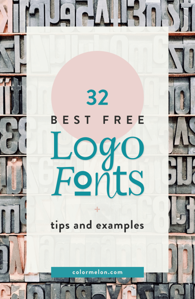 32 best free logo fonts with tips and examples - Pinterest pin.