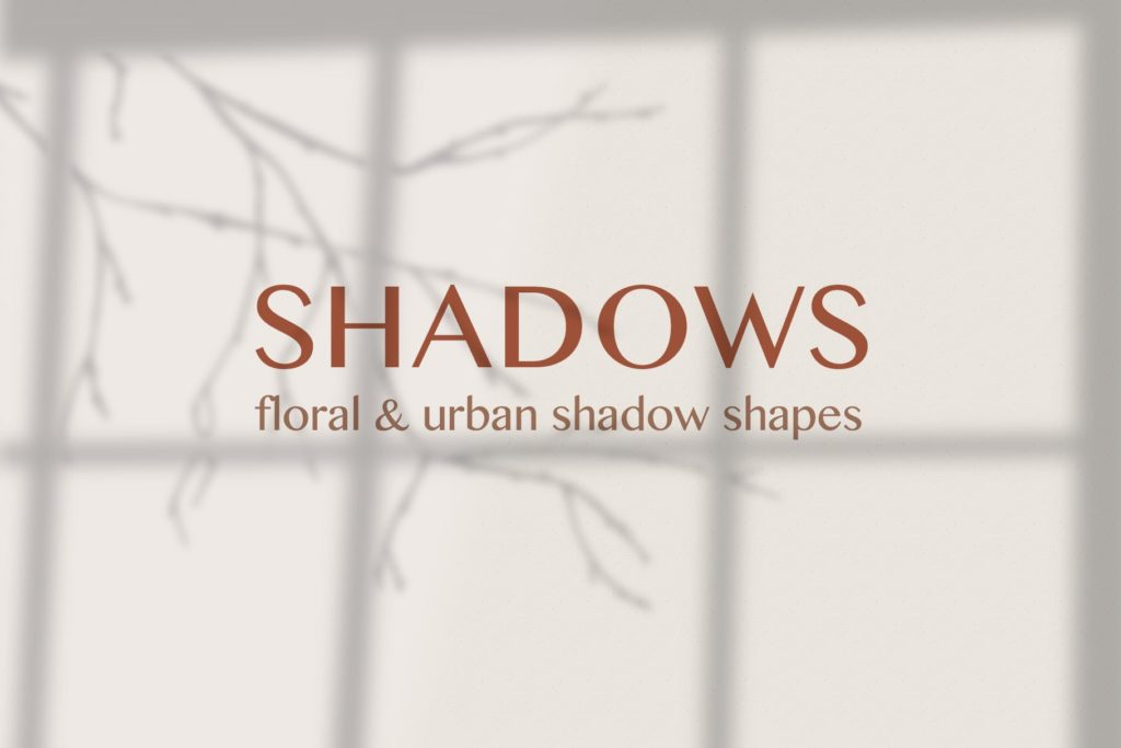 Floral and urban shadow shapes for graphic design.