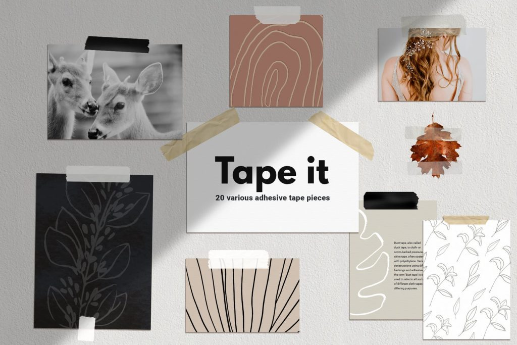Digital adhesive tape graphics.
